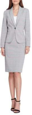 Tahari Arthur S. Levine Glen Plaid Jacket and Skirt Suit