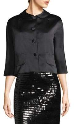 Marc Jacobs Satin Three-Quarter Sleeve Jacket