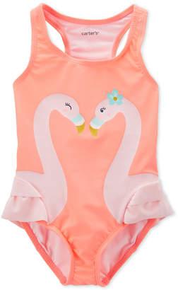 Carter's Carter Baby Girls Flamingo Swimsuit