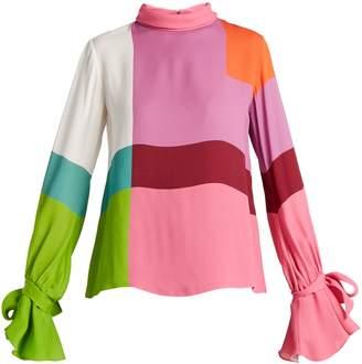 Mary Katrantzou Freda colour-block crepe blouse