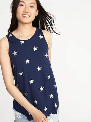 Old Navy Printed High-Neck Swing Tank for Women