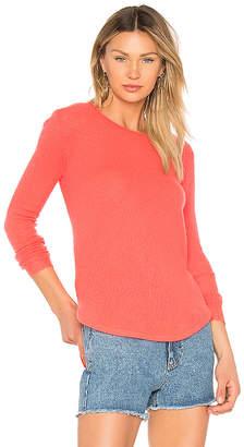 White + Warren Featherweight Shirttail Sweater
