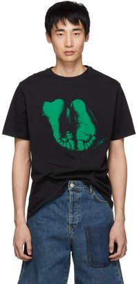J.W.Anderson Black Albrecht Durer Edition Feet T-Shirt