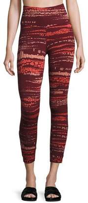 The North Face Motivation Strappy Printed Leggings, Red $75 thestylecure.com