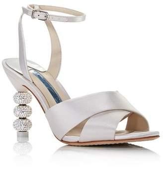 Sophia Webster Women's Natalia Embellished Satin High-Heel Sandals