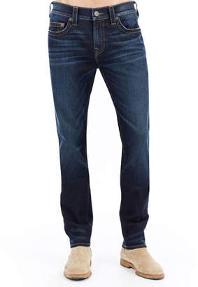 True Religion Rocco Slim-Straight Denim Jeans, Dark Indigo Lux