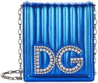 Dolce & Gabbana Girls Metallic Leather Cross Body Bag