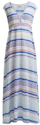 Le Sirenuse, Positano - Astrid Sea Print Cotton Dress - Womens - Blue Print