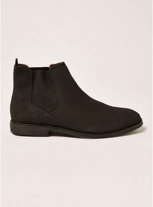 Topman Mens Black Faux Suede Spark Chelsea Boots