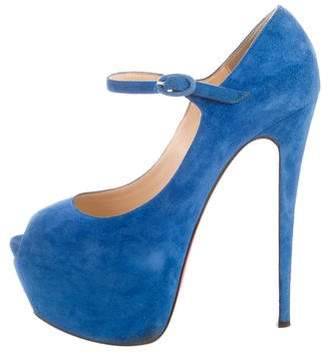 Christian Louboutin Suede Lady Highness Pumps