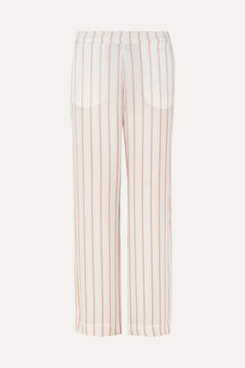 Off-White ASCENO - Striped Silk-satin Pajama Pants