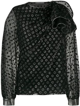 Alberta Ferretti eyelet detail blouse