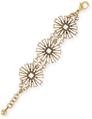 Lulu Frost Daisy Flower-Medallion Chain Bracelet $188 thestylecure.com