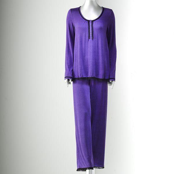 Vera Wang Simply vera midnight indulgence pajama separates