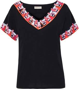 Emilio Pucci Printed Silk-jersey T-shirt