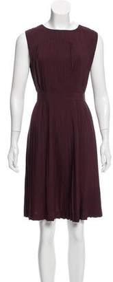 AllSaints Sleeveless Pleat Dress