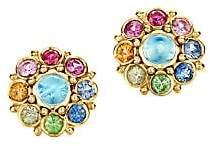 Temple St. Clair Women's Celestial 18K Yellow Gold & Multi-Stone Stella Cluster Earrings
