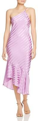 Mason by Michelle Mason One-Shoulder Silk Dress