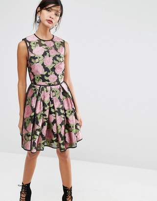 ASOS SALON Pretty Floral Rose Soft Mini Dress $113 thestylecure.com