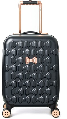 Ted Baker Small Beau 22-Inch Bow Embossed Four-Wheel Trolley Suitcase