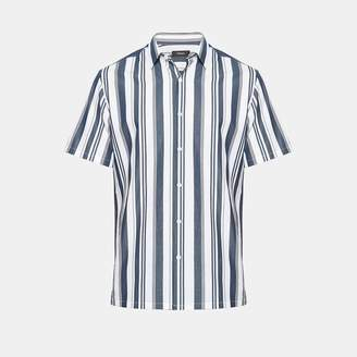 Theory Wide Striped Standard-Fit Short-Sleeve Shirt