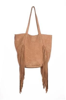 Brave Suede Fringe Bag $223 thestylecure.com