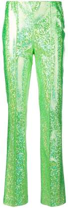 Saks Potts high-waisted sequin trousers