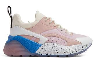 Stella McCartney Eclypse Low Top Contrast Panel Trainers - Womens - Pink White