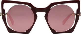 MCM Round Cut Out Sunglasses