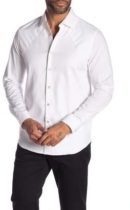 Karl Lagerfeld Paris Solid Long Sleeve Modern Fit Shirt