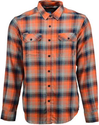 Columbia Men's Auburn Tigers Long-Sleeve Flannel Button-Up Shirt