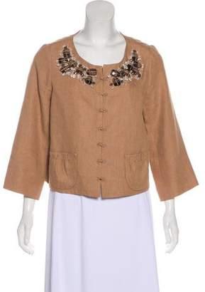 Robert Rodriguez Linen Embellished Jacket
