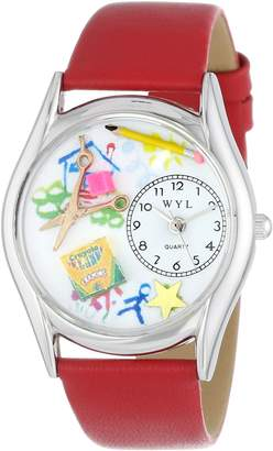 Whimsical Watches Women's S0640004 Preschool Teacher Red Leather Watch