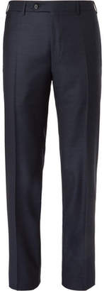 Canali Dark-blue Slim-fit Wool Suit Trousers
