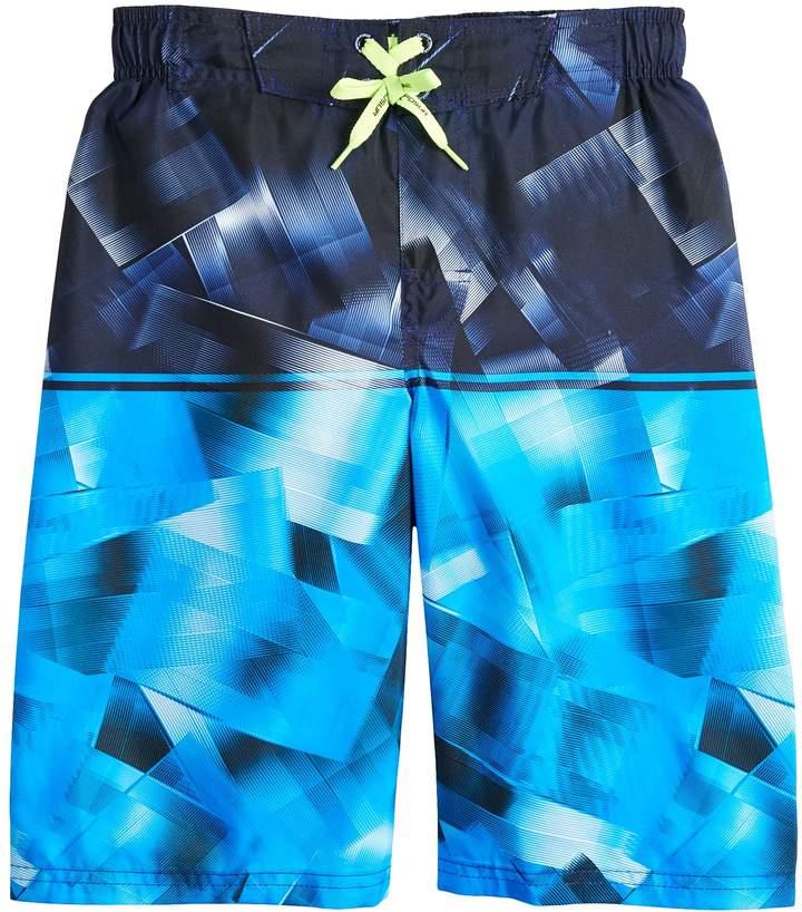 Boys 8-20 Quantum Stripe Swim Trunks