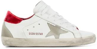 Golden Goose red velvet superstar sneaker