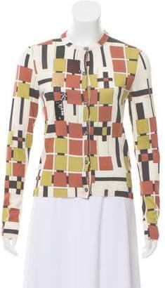 Bottega Veneta Printed Sequin Cardigan