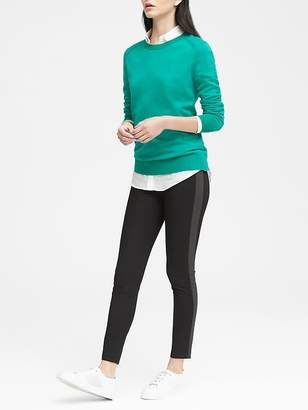 Banana Republic Petite Devon Legging-Fit Side-Stripe Ankle Pant