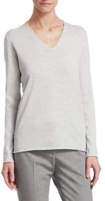 Fabiana Filippi Lurex V-Neck Knit Top