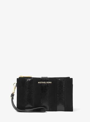 Michael Kors Adele Mixed-Media Smartphone Wallet