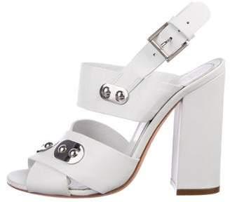 Alexander McQueen Embellished Leather Sandals