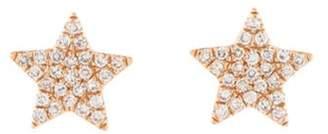 14K Diamond Star Stud Earrings rose 14K Diamond Star Stud Earrings