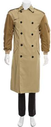 Moussy Double-Breasted Trench Coat