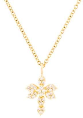 Jamie Wolf 18K Diamond Dragonfly Pendant Necklace