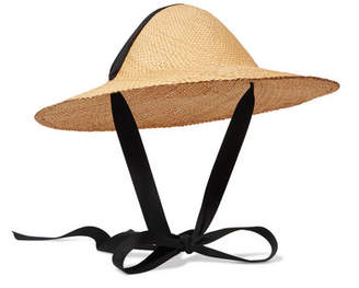 CLYDE Adriatic Cotton-trimmed Straw Hat - Ivory