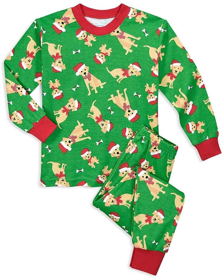 Unisex Dog in Santa Hat Holiday Pajama Set - Little Kid