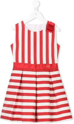 Liu Jo Kids striped pleated dress