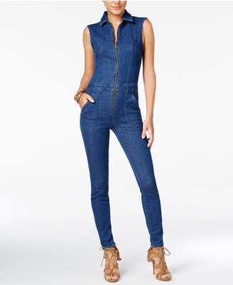 GUESS Jessie Denim Utility Jumpsuit $128 thestylecure.com