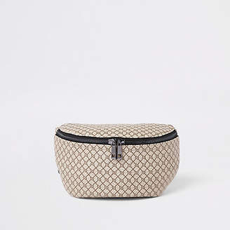 River Island Ecru RI monogram cross body