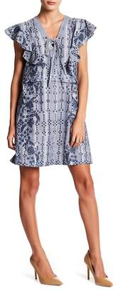 BCBGMAXAZRIA Caralyne Embroidered Plaid Dress